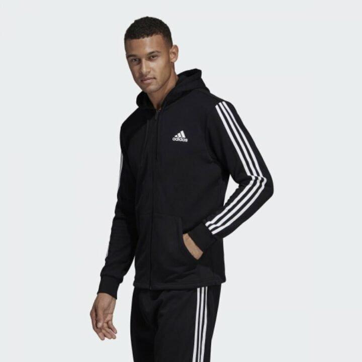 Adidas 3 Stripes fekete férfi pulóver