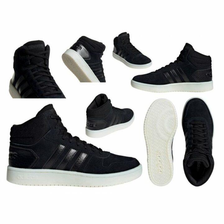 Adidas Hoops 2.0 Mid fekete utcai cipő