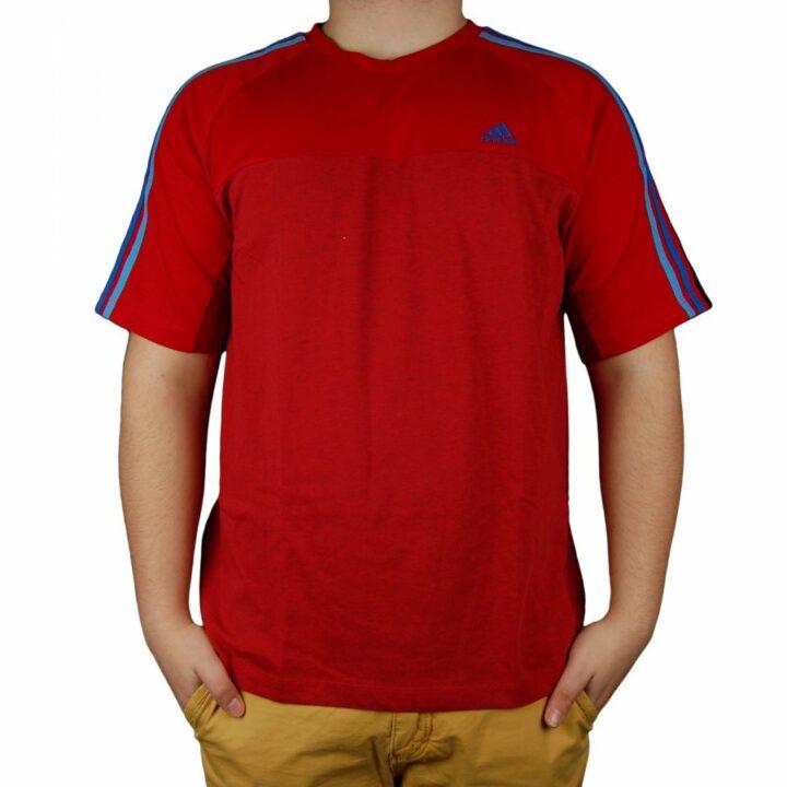 Adidas piros férfi póló