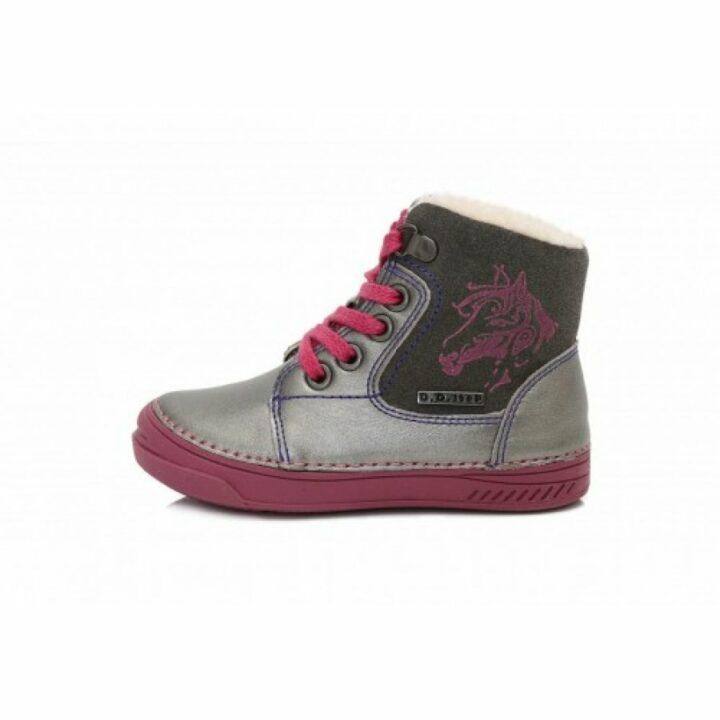 D.D Step bundás ezüst bébi utcai cipő