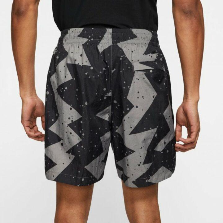 Jordan Poolside fekete férfi rövidnadrág