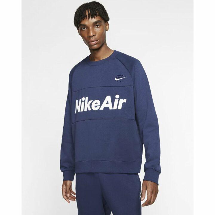 Nike Air kék férfi pulóver