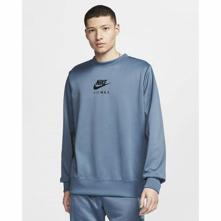 Nike Air Max kék férfi pulóver