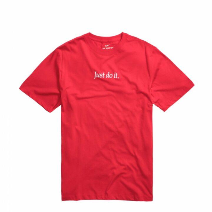 Nike Just Do It piros férfi póló