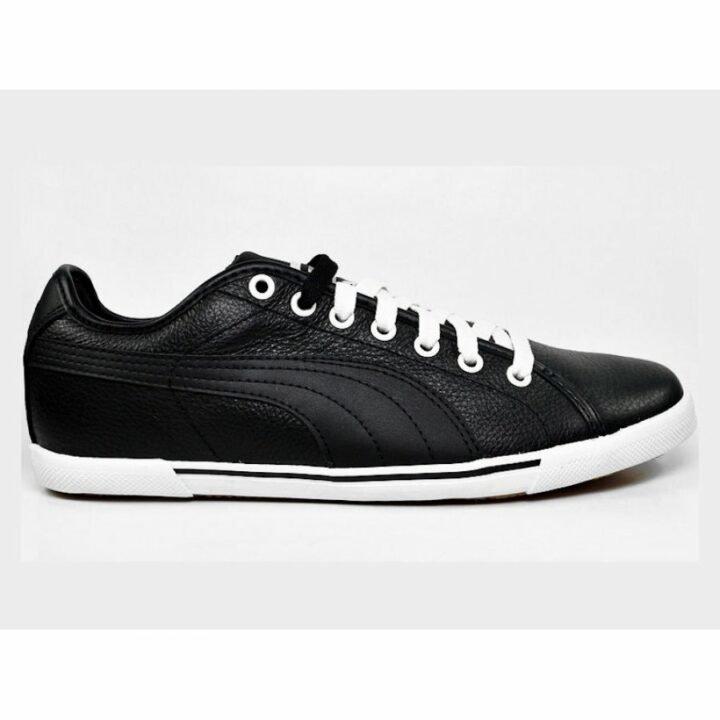 Puma Benecio Leather fekete férfi utcai cipő