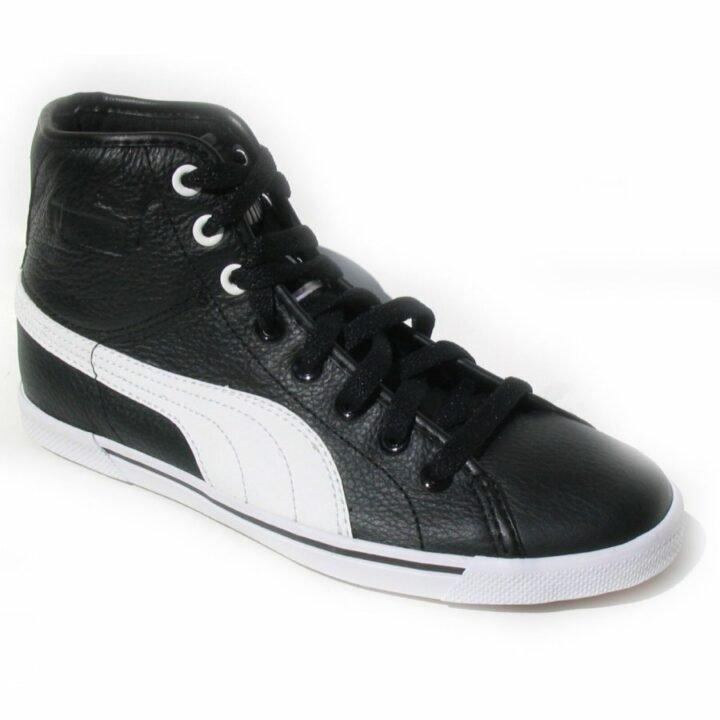 Puma Benecio Mid Leather fekete férfi utcai cipő