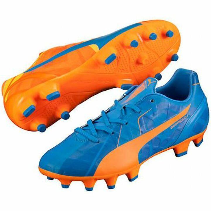 Puma Evospeed 4 H2H Fg Jr kék fiú focicipő