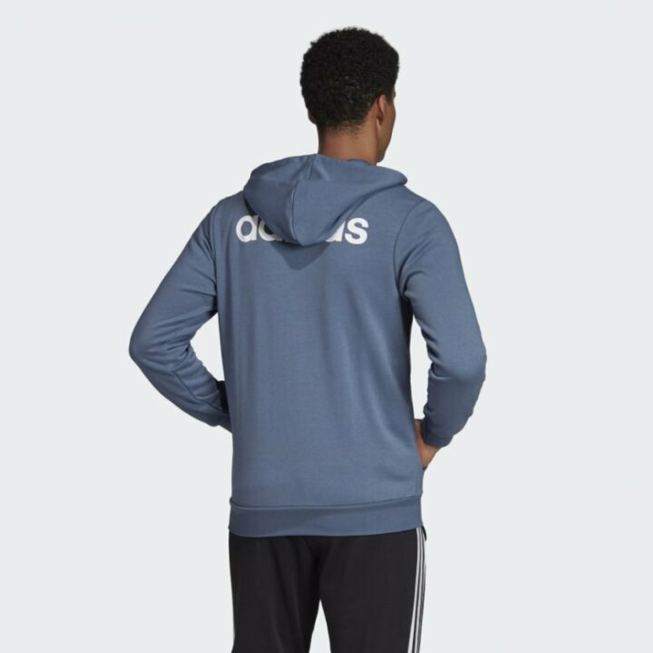 Adidas Essentials Linear kék férfi pulóver