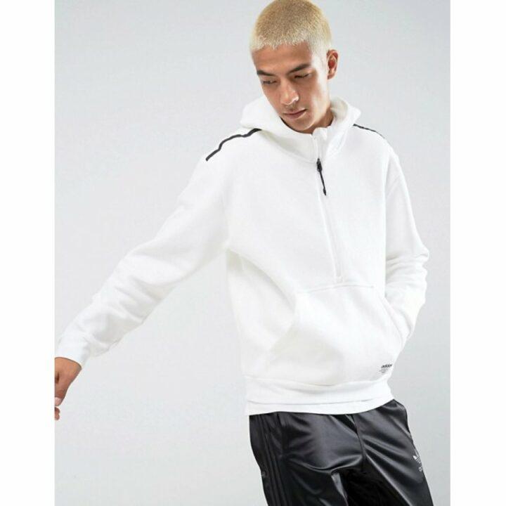 Adidas fehér férfi pulóver