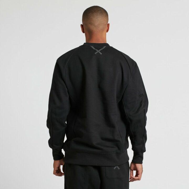 Adidas fekete férfi pulóver