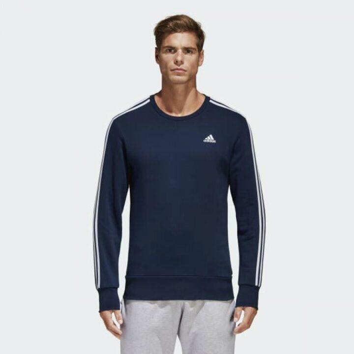 Adidas kék férfi pulóver