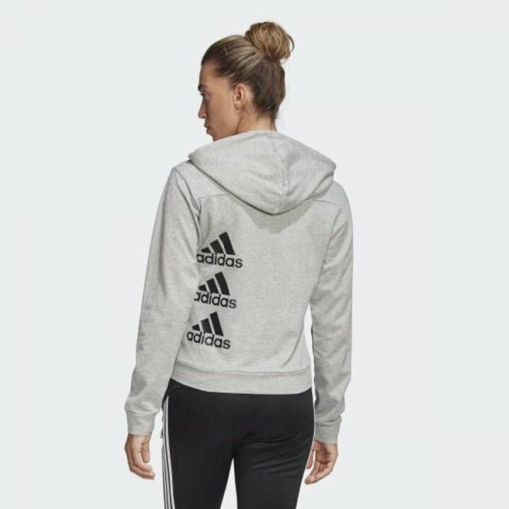 Adidas MUST HAVES STACKED szürke női pulóver