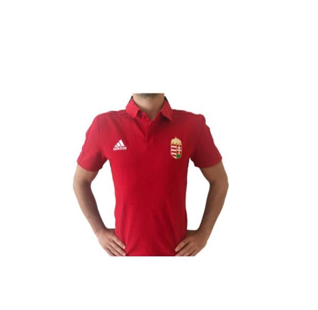 Adidas magyar címeres piros férfi póló