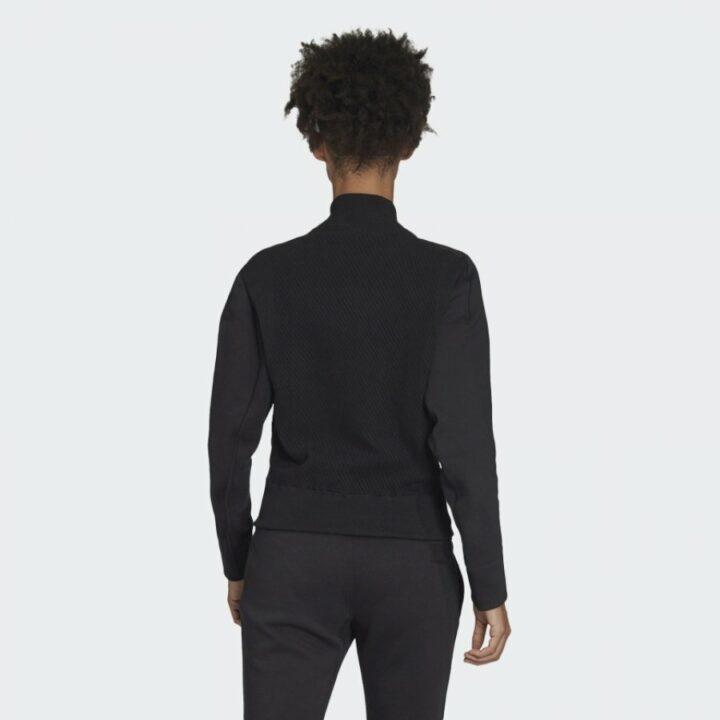Adidas PRIMEKNIT HYBRID JACKET fekete női pulóver