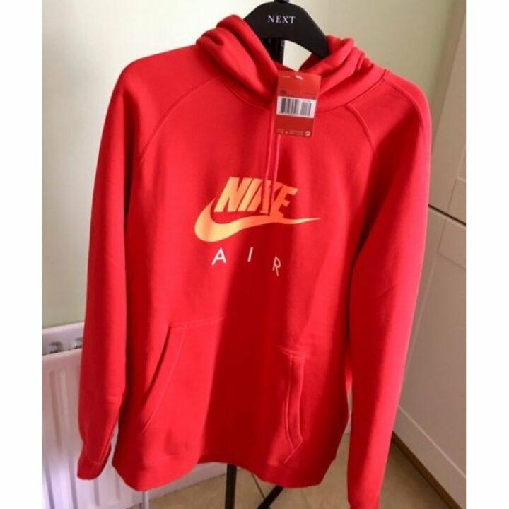 Nike Air piros férfi pulóver