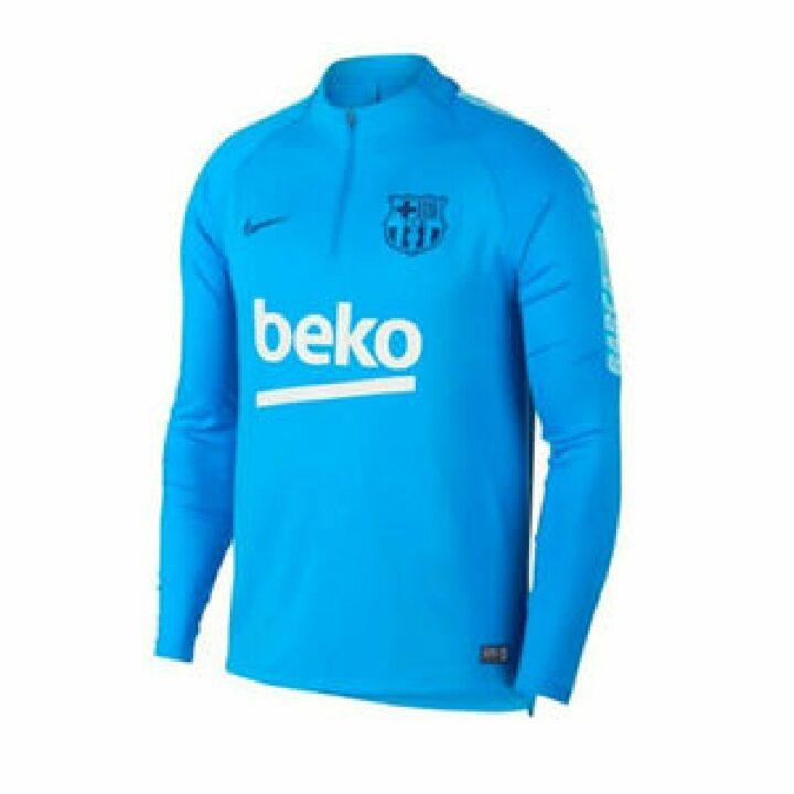 Nike Barcelona kék férfi pulóver