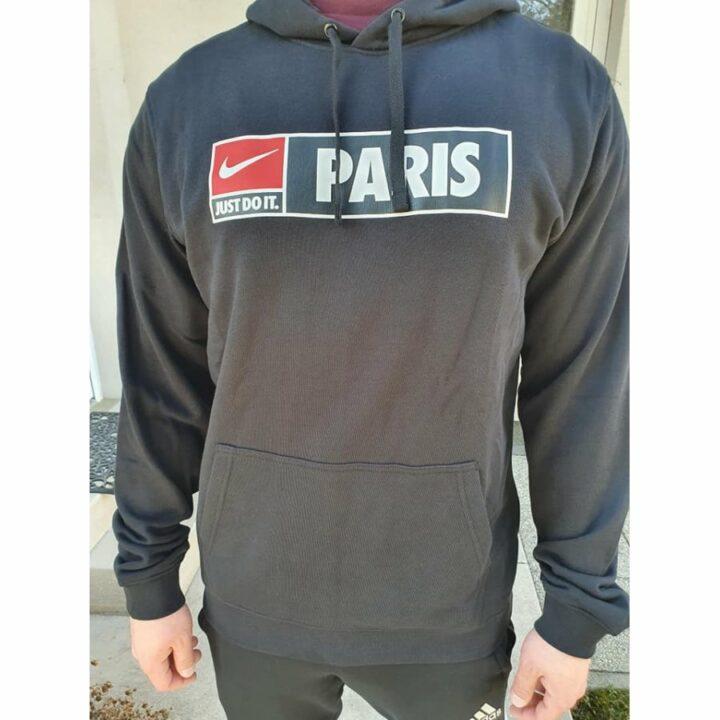 Nike JDI Paris fekete férfi pulóver