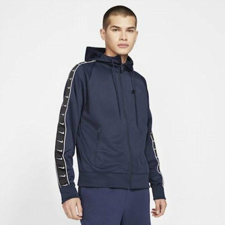Nike kék férfi pulóver