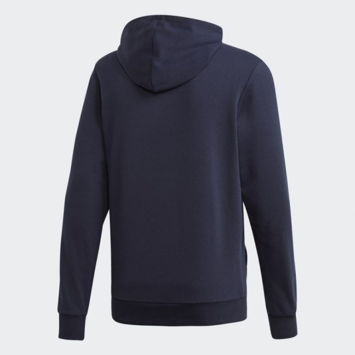 Adidas 3 Stripes kék férfi pulóver