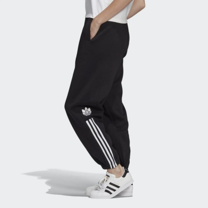 Adidas CUFFED fekete női pulóver