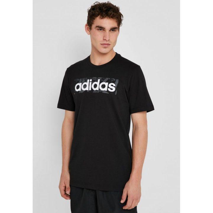 Adidas Linear AOP Box fekete férfi póló