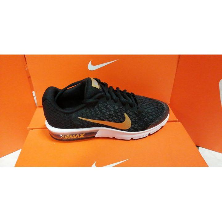 Nike Air Max Sequent 2 GS fekete női utcai cipő