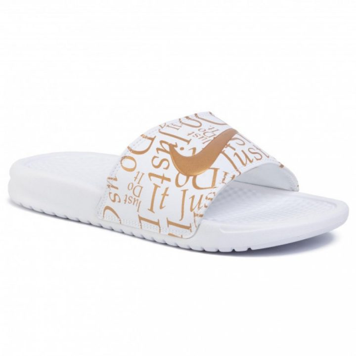 Nike Benassi Just Do It fehér papucs