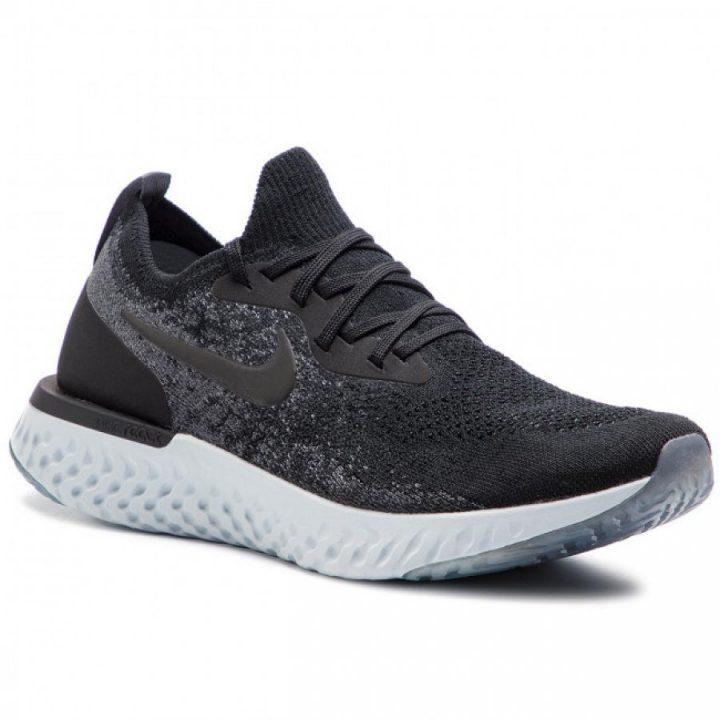 Nike Epic React Flyknit fekete férfi sportcipő