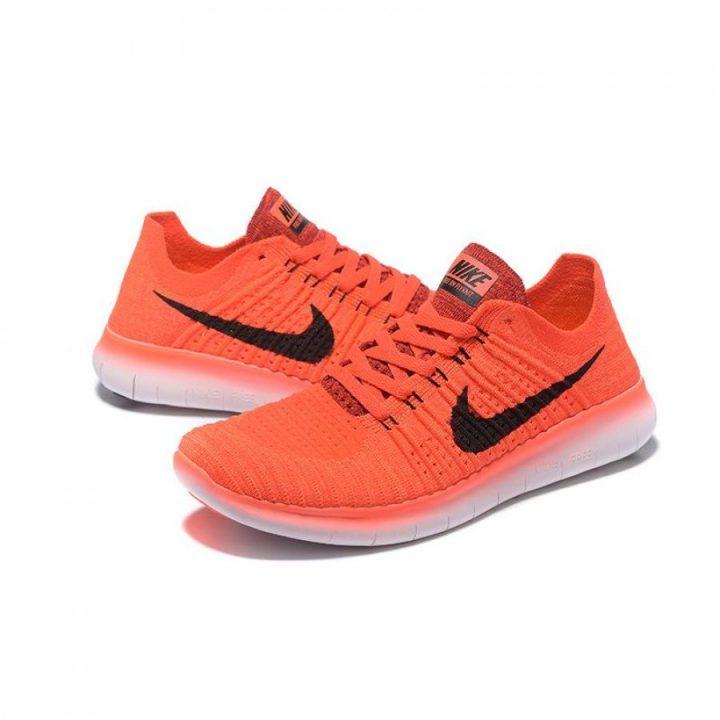 Nike Free RN Flyknit narancs férfi futócipő