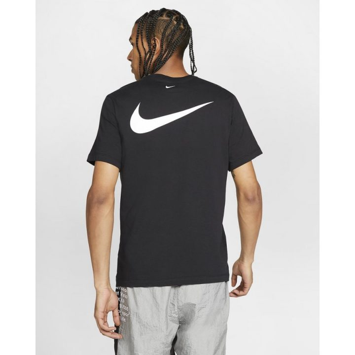 Nike Swoosh fekete férfi póló