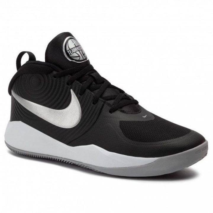 Nike Team Hustle D 9 (Gs) fekete kosárlabdacipő