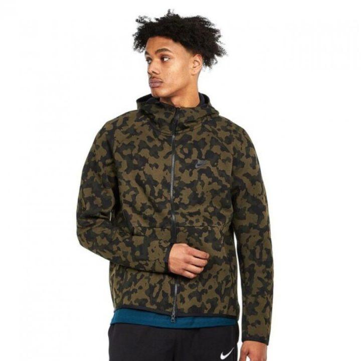 Nike Tech Fleece Camo zöld férfi pulóver