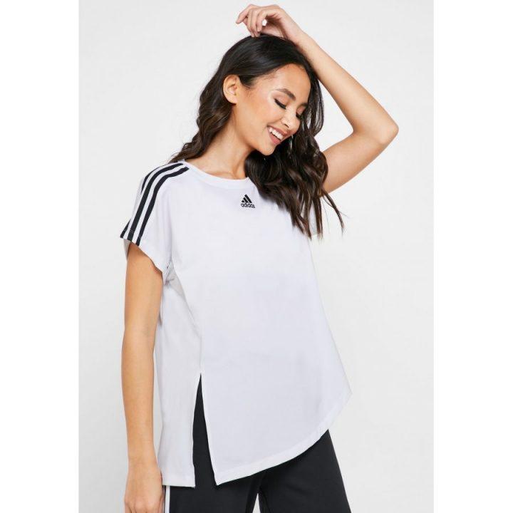 Adidas 3 Stripes fehér női póló
