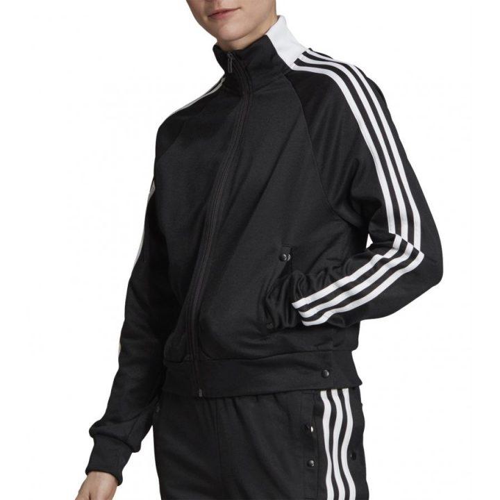 Adidas 3 Stripes ID fekete női pulóver