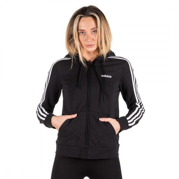 Adidas Essentials 3 Stripes fekete női pulóver