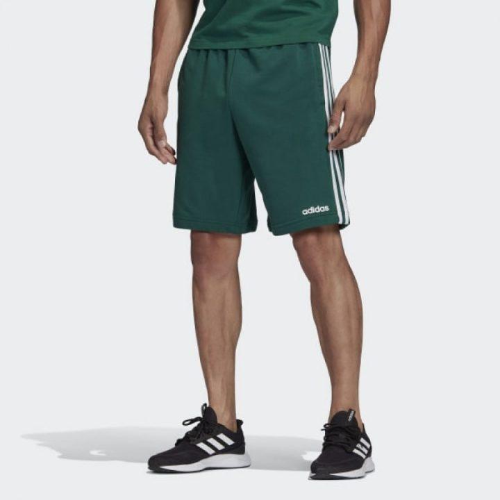 Adidas Essentials 3 Stripes zöld férfi rövidnadrág