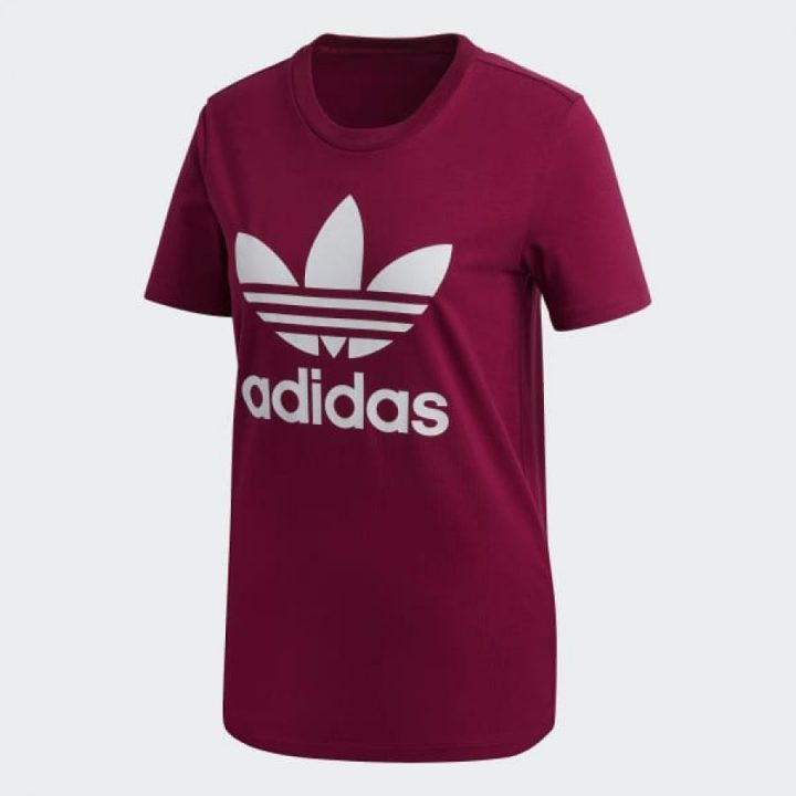 Adidas Trefoil bordó női póló