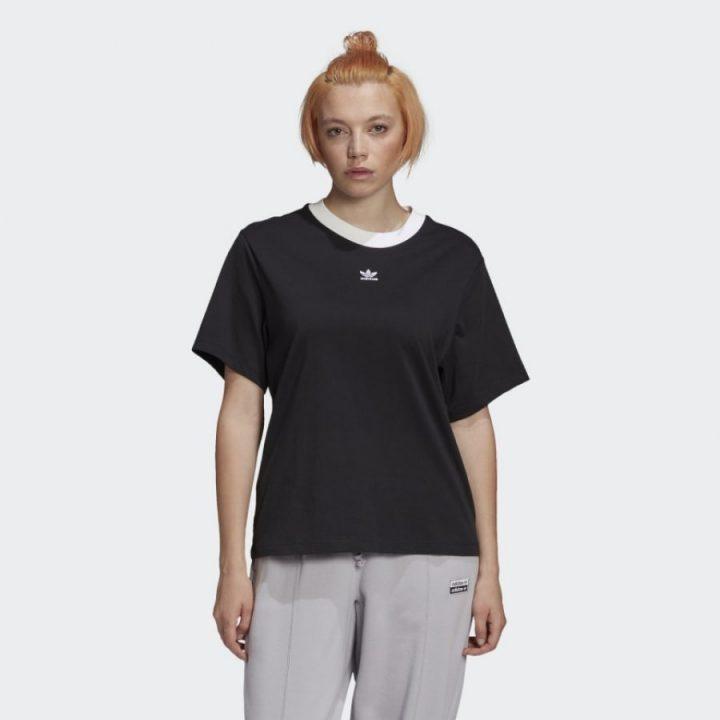 Adidas Womens boyfriend fekete női póló