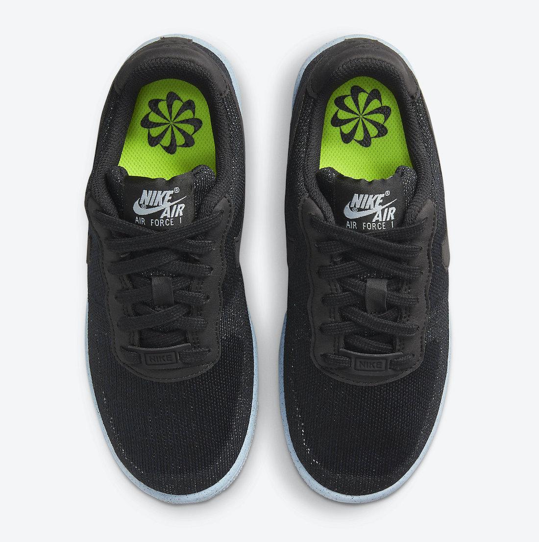 Nike Air Force 1 Crater Flyknit fekete utcai cipő