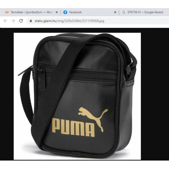 Puma 19 Core fekete táska