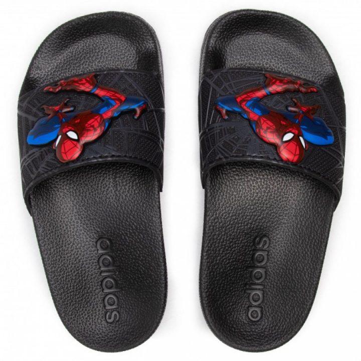 Adidas Marvel Spiderman fekete fiú papucs