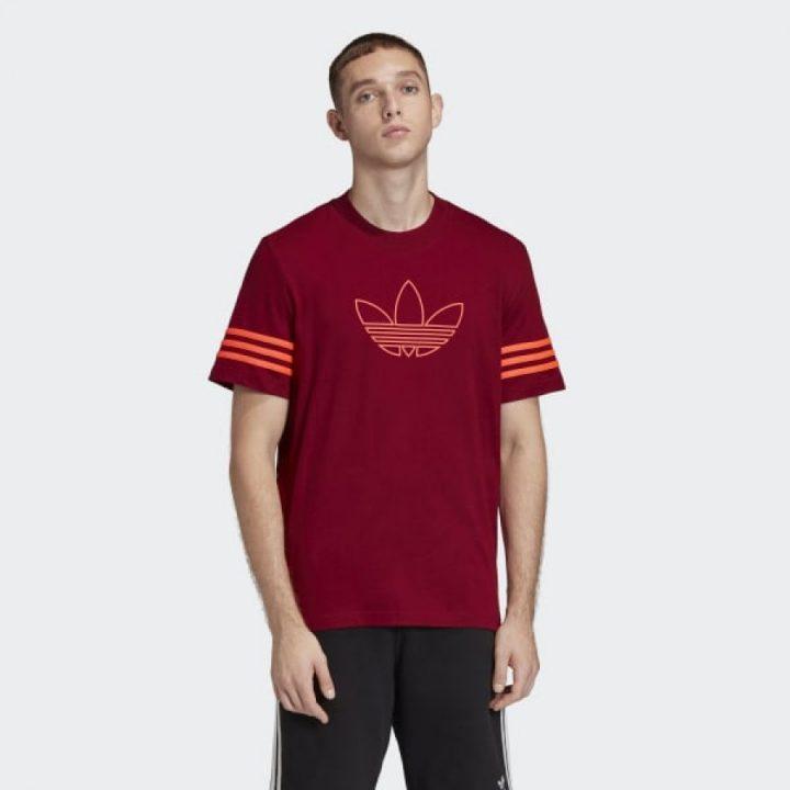 Adidas Outline piros férfi póló