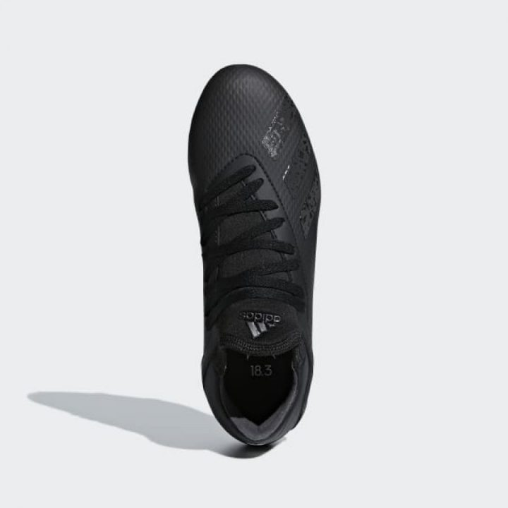 Adidas X 18.3 fekete fiú focicipő