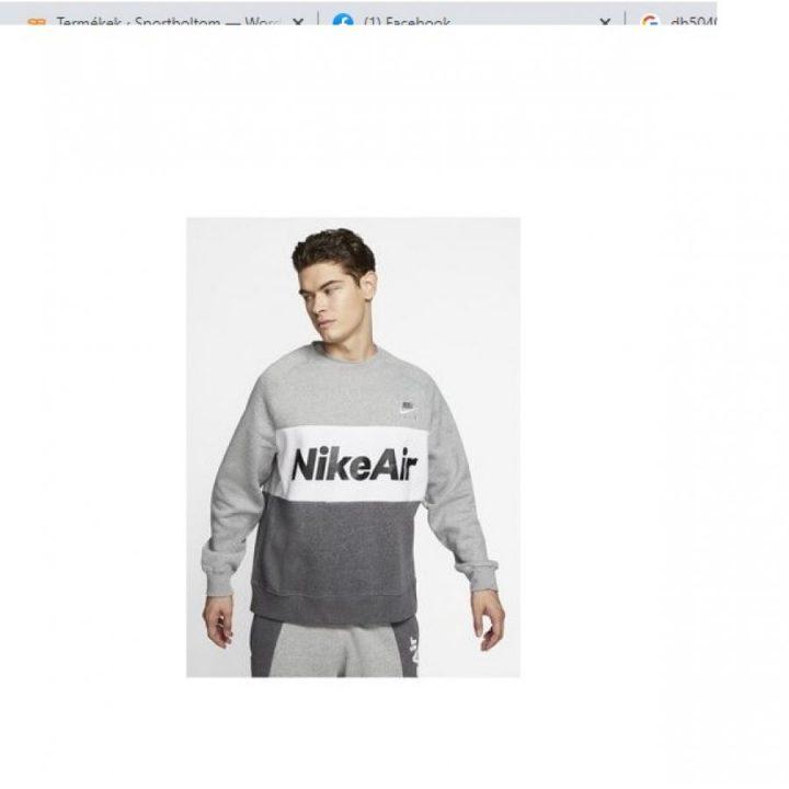 Nike Air szürke férfi pulóver