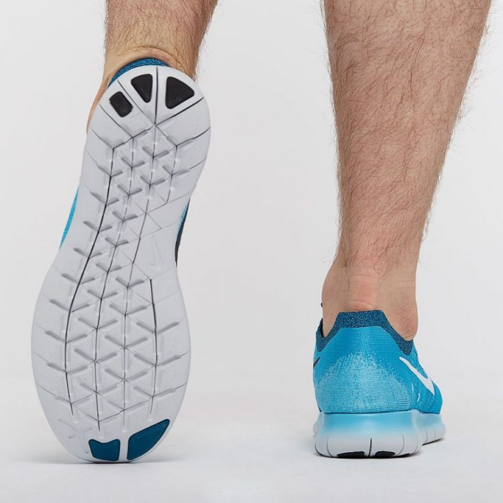 Nike Free Run Flyknit kék férfi futócipő