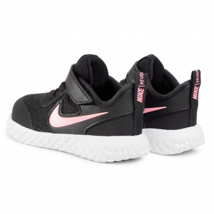 Nike Revolution 5 fekete lány utcai cipő