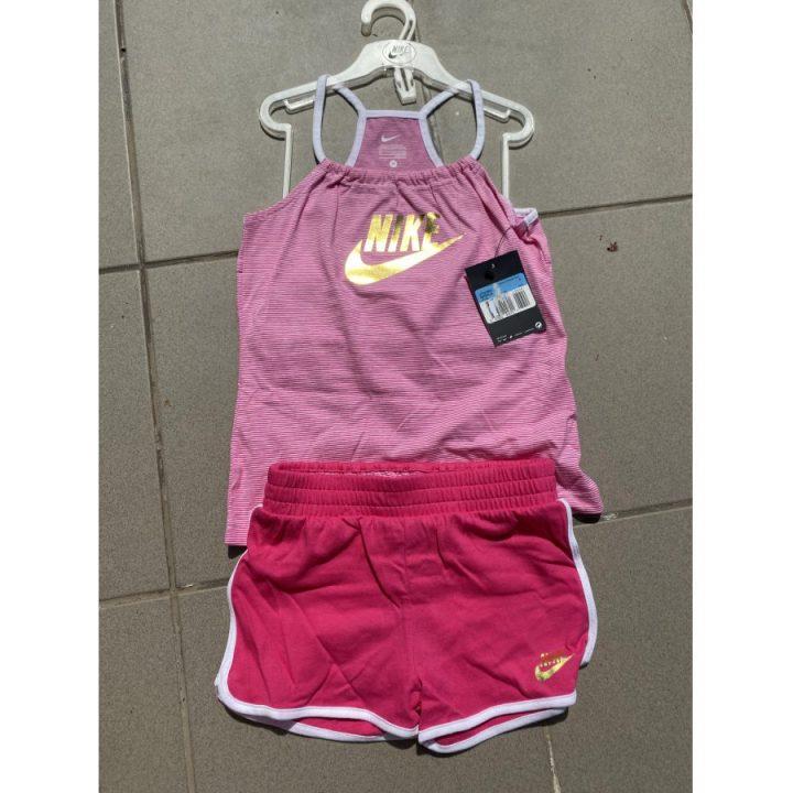 Nike rózsaszín lány póló és rövidnadrág