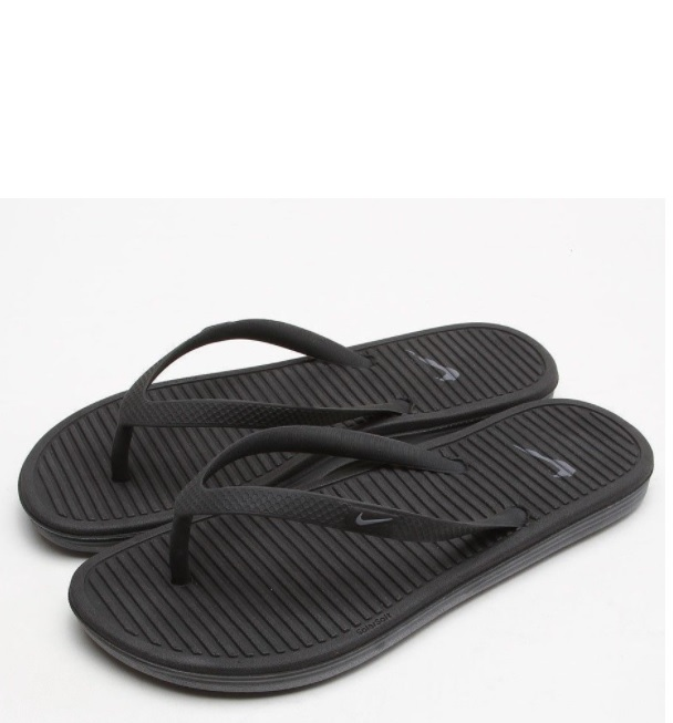 Nike Solarsoft Thong II fekete papucs