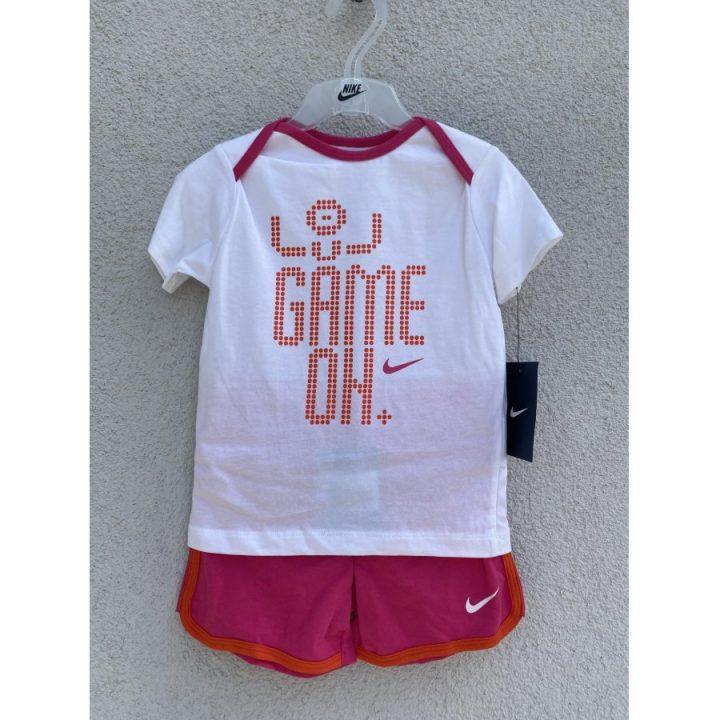 Nike több színű lány póló és rövidanadrág