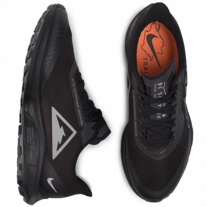 Nike Zoom Pegasus 36 Trail GTX fekete férfi focicipő